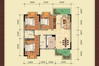 3室2厅2卫  117.13平米