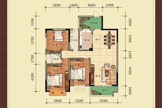 3室2厅2卫  123.49平米