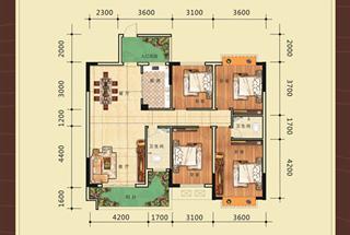 4室2厅2卫  139.74平米