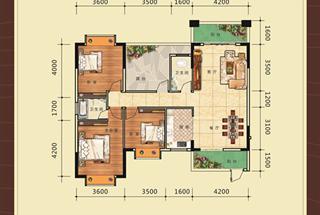 3室2厅2卫  123.08平米