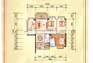 4室2厅2卫  128.8平米