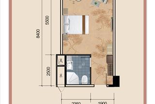 1室1厅1卫  56.59平米