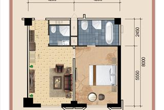 1室1厅2卫  108.99平米
