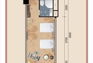 1室1厅1卫  65.02平米