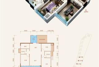 4室2厅2卫  110.6平米