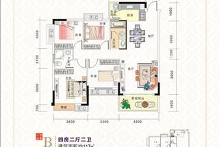 4室2厅2卫  117平米