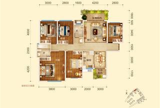 5室2厅2卫  142平米