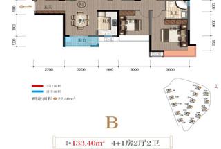 5室2厅2卫  133.4平米