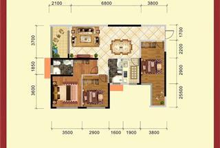 3室2厅2卫  99.69平米