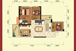 3室2厅2卫  99.63平米