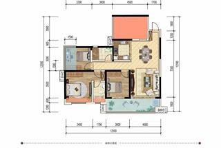 4室2厅2卫  113平米