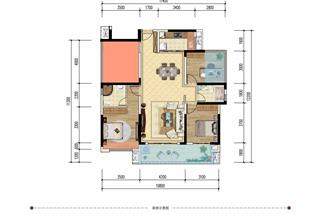 4室2厅2卫  123平米