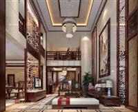 【复式楼】130平米复式楼中式风格装修案例全包16.6万